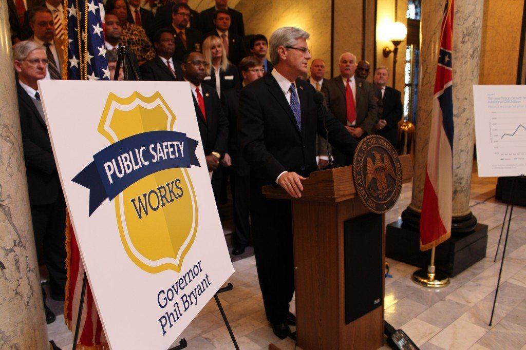 Gov. Bryant unveils task force report, Dec. 17, 2013. (Credit: governorbryant.com)