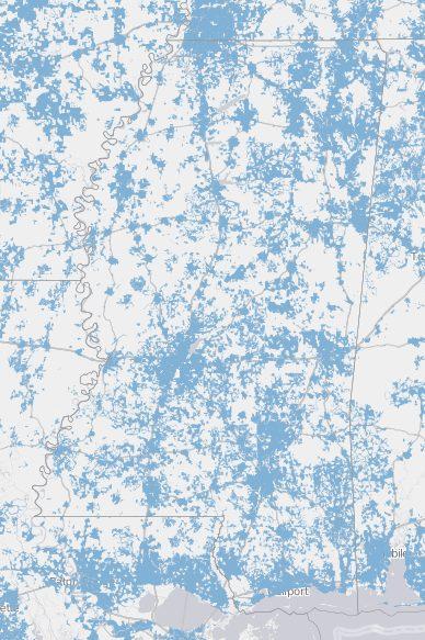 Internet Coverage in Mississippi